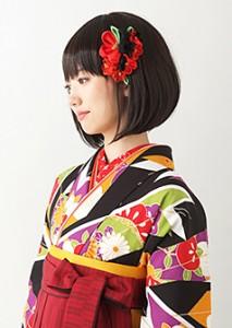 袴髪型小学生ヘアスタイルショート